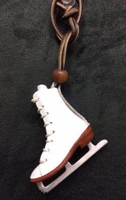画像1: スケートシューズ本革ハンドメイドバッグチャーム